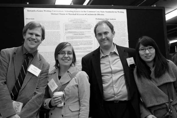 With Purdue colleagues at the 2014 meeting of the American Association for Applied Linguistics in Portland, OR.